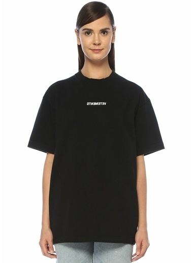 Vetements Tişört Siyah